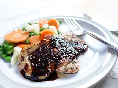Balsamic Pork Loin Steak
