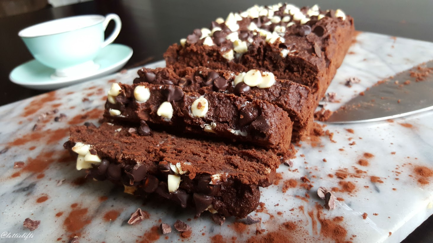 Triple Chocolate Almond Loaf