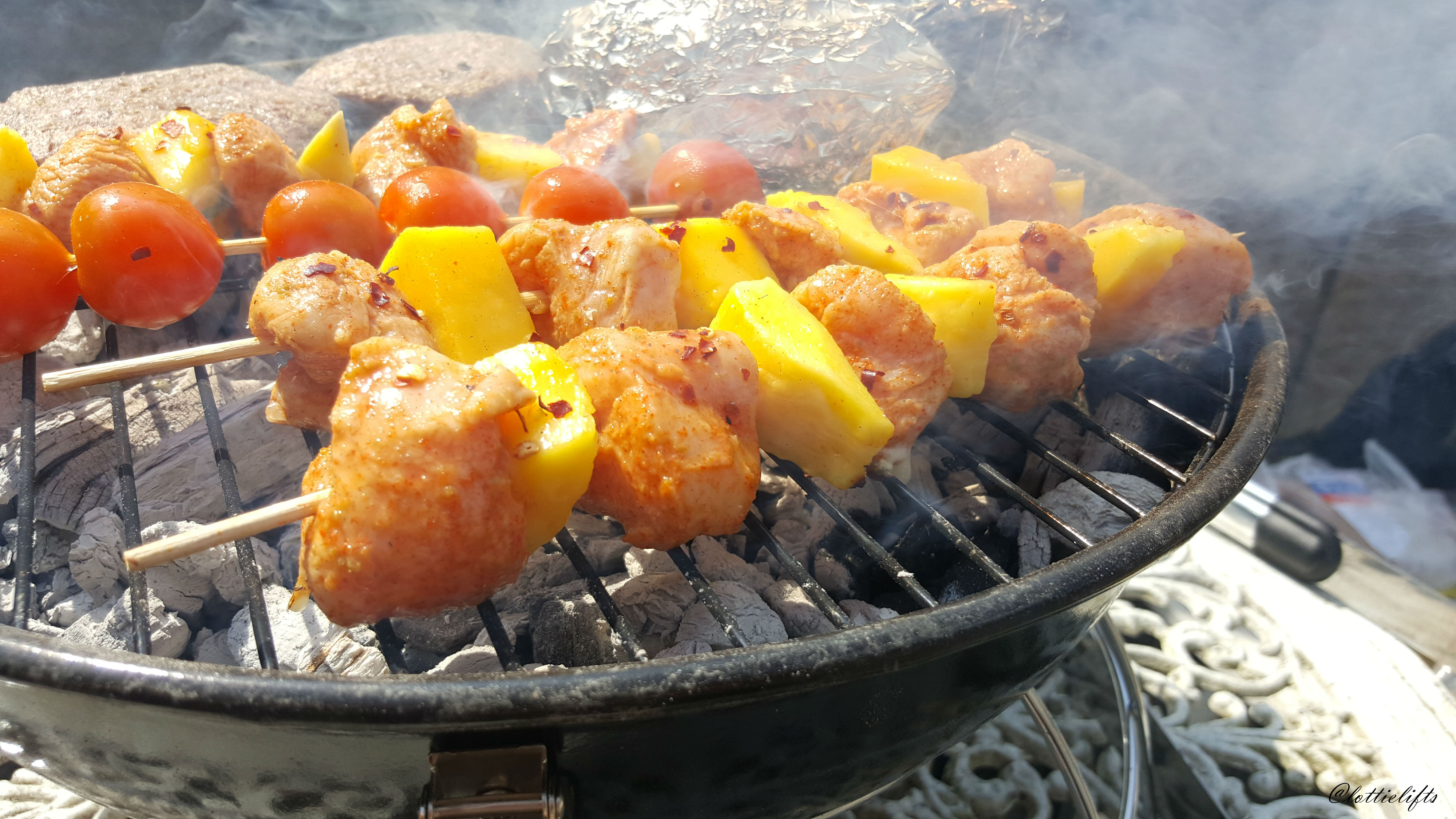 Chicken & Mango Skewers with Chilli, Ginger & Lime