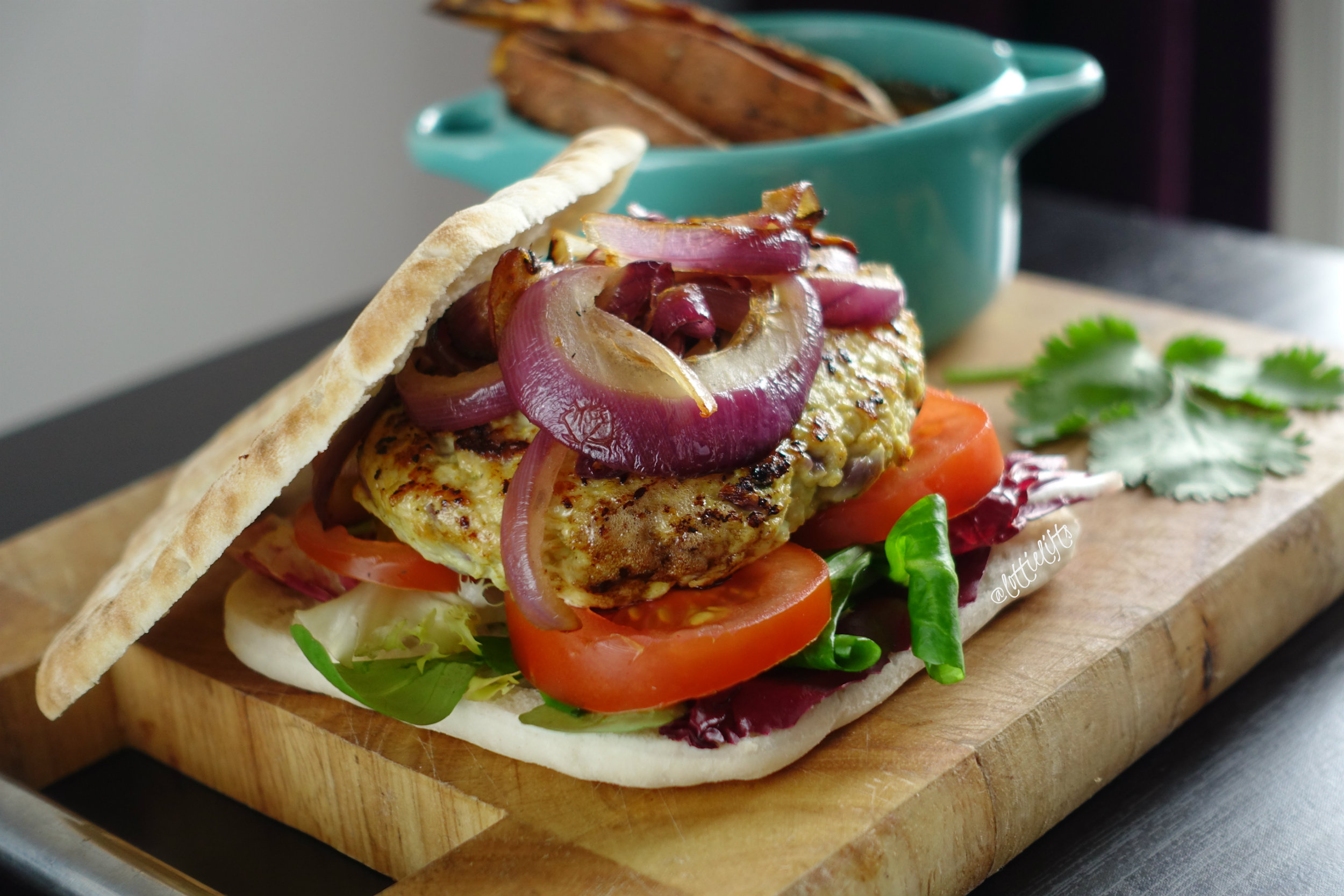 Turkey Madras Burgers