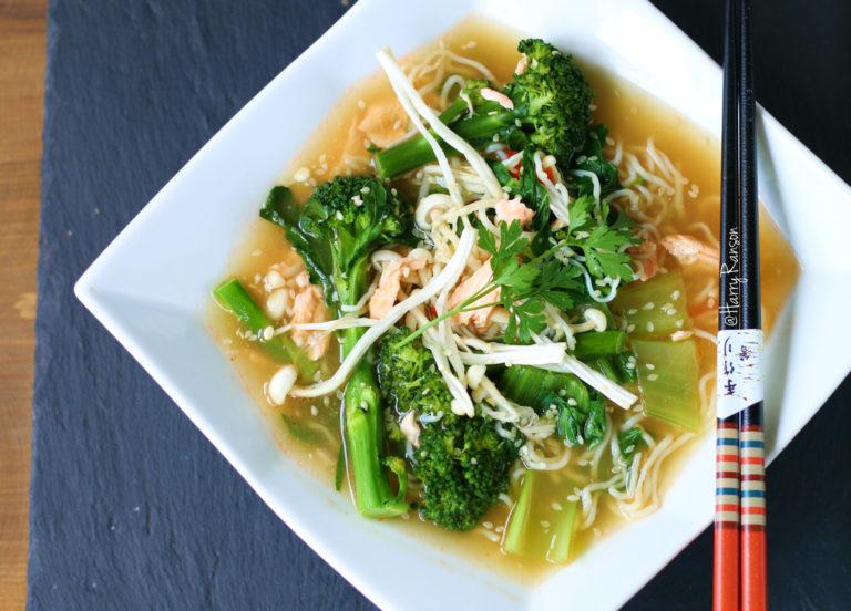 Miso Salmon Noodles