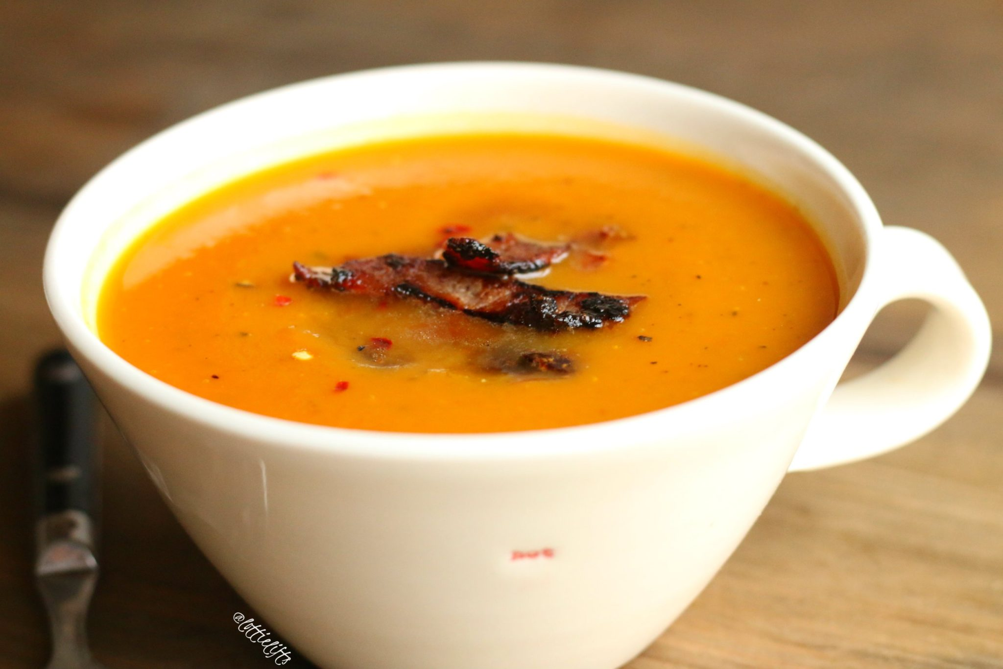Pumpkin & Sage Soup with Maple Bacon