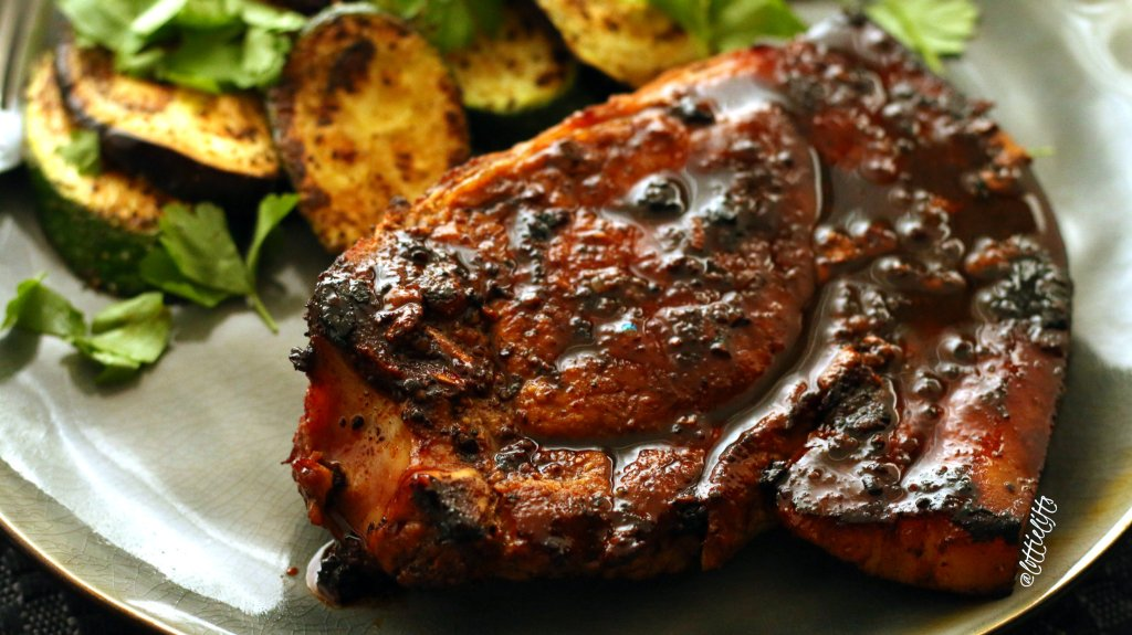 Sticky Honey Mustard Pork Chops