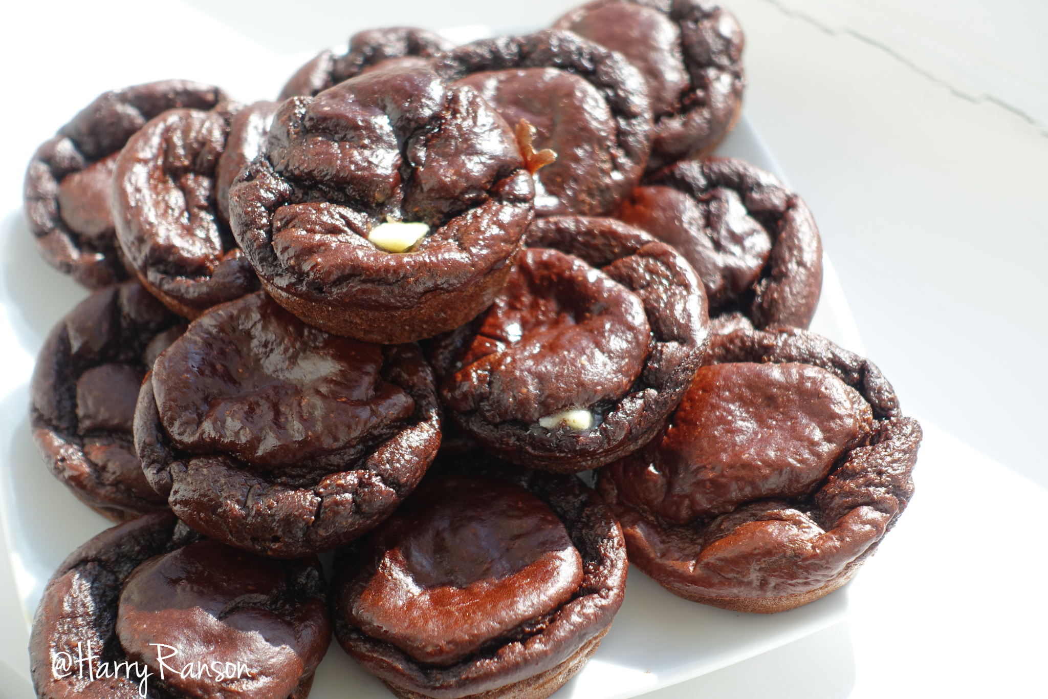 Double Chocolate Protein Muffins