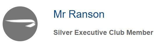British Airways Silver Executive Club Member